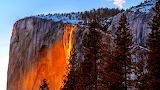 Cascade de feu - Yosemite - Californie