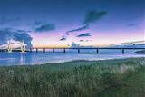 Twilight bridge Denmark
