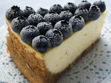 Blueberry topped cheesecake