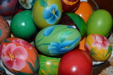 Easter eggs painted orthodox