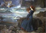 Miranda in Storm. John William Waterhouse