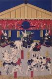 Madamma bunnies 兎の相撲」歌川芳藤