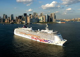 Cruise Ship Pride of America Leaving New York USA