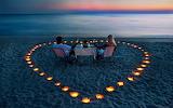 Cena romantica en la playa