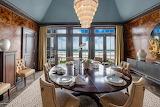 Dark Walled Dining Room on Ocean