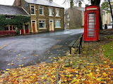 ^ Old red telephone box