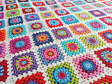 Colorful Granny Squares Crochet