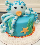 Baby octopus cake @ Mel's Bakes and Cakes