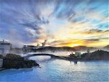 Blue Lagoon sunrise Iceland