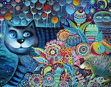 Indigo Painting by Oxana Zaika Artmajeur
