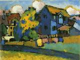 Vassily Kandinsky, Murnau mit blauem Haus, 1908