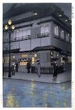 """Cityscape tumblr wonderlartcafe """"Rain at Shimbashi"""" """"Kasamatsu S"""