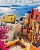 Bright Santorini