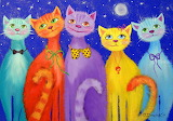 Smiling cats by Olha Darchuk