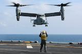 Landing of an MV-22 Osprey to USS Kearsarge (LHD 3)