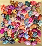 ^ Pistachio nut shell art