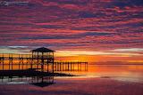 Colorful sunset mississippi coast