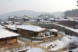 snowy Korean village