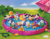 Disney Babies Playing in the Pool