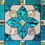aqua stained glass