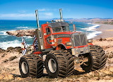 Monster-truck-on-the-rocky-coast