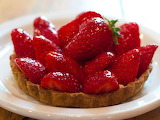 Is it the pastry he loves, or just the strawberries?
