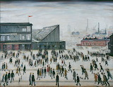 L.S. Lowry, Going to the Match, 1953