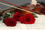 ~ Violin and Red Roses ~
