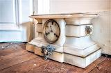 Marble clock abandoned french villa