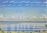 F.Hodler,  Rhythmic landscape on lake Geneva, 1908