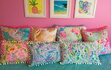 Colourful interior with pillows