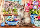Easter Cat Art