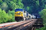 CSX Train Exits Graham Tunnel Maryland USA