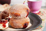 Jam filled doughnuts