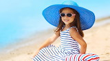 Mood, hat, glasses, girl, child, beach, summer