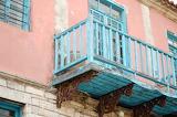 Greece, balcony, windows, facade, old house