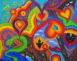 hearts original fantasy abstract art by marina petro
