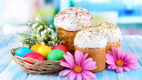 Easter - eggs - basket - flower - feather
