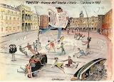 Piazza Unità con la bora (Aldo Aronne)