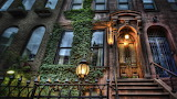 Houses-street-nyc-brownstone-lights-ivy-apartments