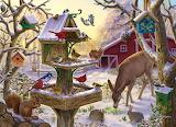 winter vogels