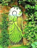 Angel shaped garden gate