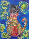Aida Jimenez, Red cat in a black hat