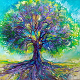 Purple Heart Tree Of Life ~ Marcia Baldwin