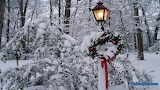 ^ Christmas wreath in the snow
