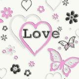 Debona-love-hearts-flowers-butterfly-children-kids-girls-bedroom