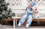 Mood, dog, friendship, girl, friends, winter