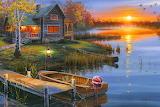 Autumn at the Lake By Darrell Bush