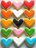Heart cookies @ Sugar Sanctuary