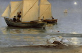 Fishing Boats. Peder Severin Kroyer 1884